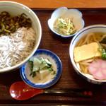 味工房・花へんろ - 料理写真:高菜ちりめん丼&うどんセット ¥860