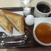 フジカフェ - 料理写真:モーニングセット(ハンバーグ、スープ)