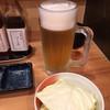 祇園囃子 - 料理写真:2015.2. ほろ酔いセットA(\880)の生中