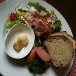 cafe KO-BA - 石窯(薪焼き)パンのサラダプレートセット