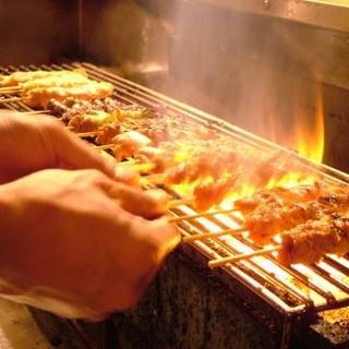 焼き鳥、人気の鶏創作料理、デザートも全て食べ放題・飲み放題