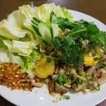 ラーンガンエーン - 豚と野菜をチリで炒めたもの