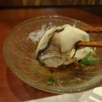 旬鮮炭火焼 獺祭 - 松島産生牡蠣ポン酢アップ