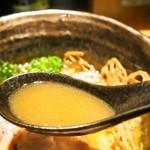 座銀 - ②鶏と海老 時々 煮干しSoba(スープ)