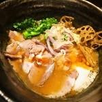 座銀 - ②鶏と海老 時々 煮干しSoba