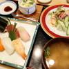 江戸鮨 - 料理写真:寿司定食(¥1100税込み)コーヒー付きます