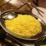シタール - サフランライス やっぱり印度料理にはlong grainが合います!