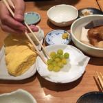 玉乃光酒蔵 - 揚げ銀杏、出汁巻き玉子、オデン