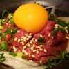 バル肉寿司 - 料理写真:新鮮馬肉のユッケです♪