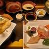 川喜 - 料理写真:天ぷら定食か、刺身定食。美味しいです。