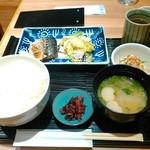 駅膳 - さば定食(500円)