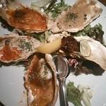 ブルー - 焼き牡蠣、5種盛り