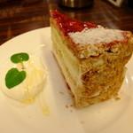 珈琲店 スパニョラ - 木苺のミルフィーユ:420円