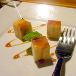 ひびか食堂 - デザートのプリンカタラーナ。お料理の余韻を邪魔しない、絶妙な甘さと量です!