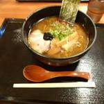 札幌鮭ラーメン麺匠 赤松 - 麺匠 赤松Black 黒味噌ラーメン 850円