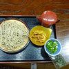 八十八茶屋 - 料理写真:生そばざる小 300円 蕎麦湯、カリントウ付