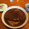 Kichen Bar OWL - 料理写真:OWLライス ハンバーグ。とても大きい