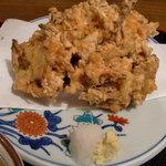 たかちほ亭 - かきあげの皿