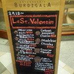 ブーランジェリー ブルディガラ - バレンタイン用の可愛いボード