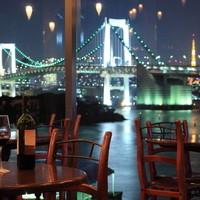 東京湾・レインボーブリッジ・東京タワーを望むパーティスペース
