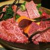 三四郎 - 料理写真:黒毛和牛盛り合わせ