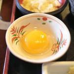 うどん本陣 山田家 - 卵黄 '15 2月上旬