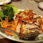タイ料理レストラン ジンラック - ムーマーナウ 1500円 豚肉のレモンソースあえ