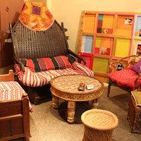 インド風のインテリア、小物に囲まれながら素敵なひと時を…