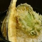 コソバテイ - ミニ野菜天丼