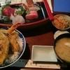 味どころ あかま - 料理写真:天丼刺身定食(夜)