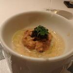 レストラン ラ フィネス - 昆布の森の毛蟹と天草のムサラサキウニ