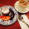 cafeぶるぅ - 料理写真:フォンダンショコラとチョコレートドリンク。 美味しくいただきました