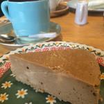 カフェ カチョウフウゲツ - モカチーズケーキ
