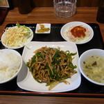 豊華 - チンジャオロース定食(700円)