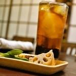 江戸政 - 2015.3 コーヒーハイ(300円)と無料のお通し