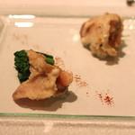 ル・マノアール・ダスティン - 蛤の天ぷら 菜の花 花山椒 (2015/02)
