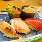 ときすし - 春三昧(のれそれ、白魚、蛍烏賊、桜鯛、鰹)