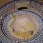 36024216 - スズキの蒸し煮とうるいのソテー