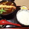加満家 - 料理写真:天カレー南蛮蕎麦とライス