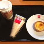 アマンダコーヒーズ - 朝ごはんはラップサンドとエッグタルト