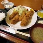 とんかつ恵比寿 - 牡蠣フライ定食
