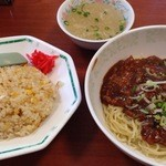 36056006 - ランチメニューのジャージャー麺と半チャーハン