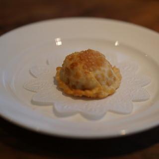 開化亭 - 料理写真:ホタテとウニの揚げ餃子
