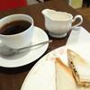 アキバカフェ - 料理写真:2014年1月 ホットサンドセット、ホットコーヒー