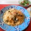 スパッソ - 料理写真:本日のランチ、サバのすり身のトマトソーススパゲッティ
