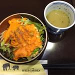 36134028 - サラダとブロッコリースープ