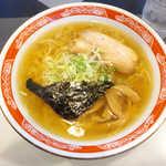 北○ - 中華そば(¥680)。魚介の香る、すっきりあっさり醤油スープ(^-^)