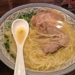 にんにくや - みそチャーシュー麺のアップ