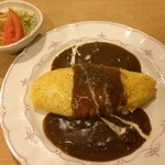 おうちcafe - 料理写真:ドライカレーオムライス
