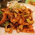 百濟 - イカの野菜炒め